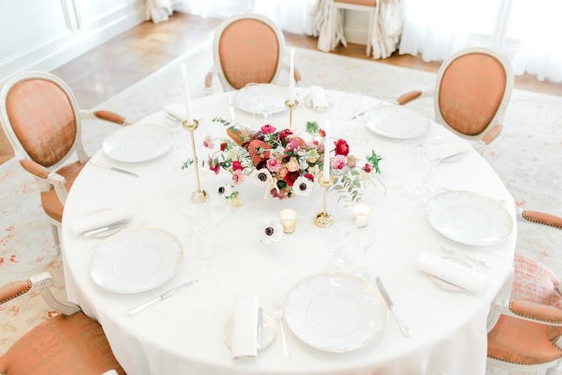 Le Bristol Paris Elopement art table florist fineart France