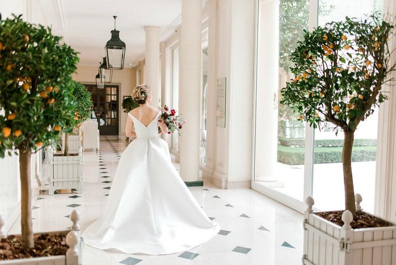 Le Bristol Paris Elopement bride flowers fineart