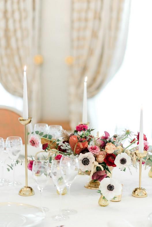 Le Bristol Paris Elopement centerpiece floral fineart