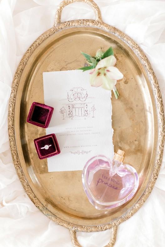 Le Bristol Paris Elopement fineart wedding florist France