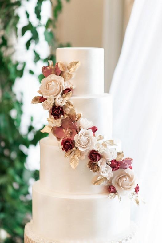 le bristol paris elopement luxury wedding cake