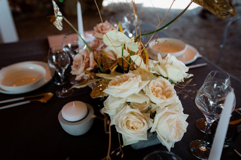 wedding design rose de jardin anthurium fleuriste alsace