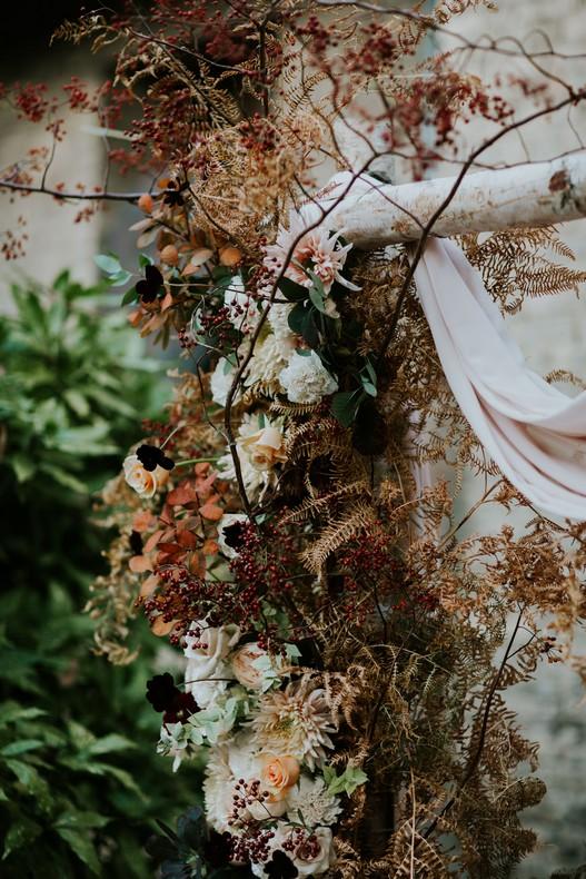 arche ceremonie mariage fleuriste luxembourg automne