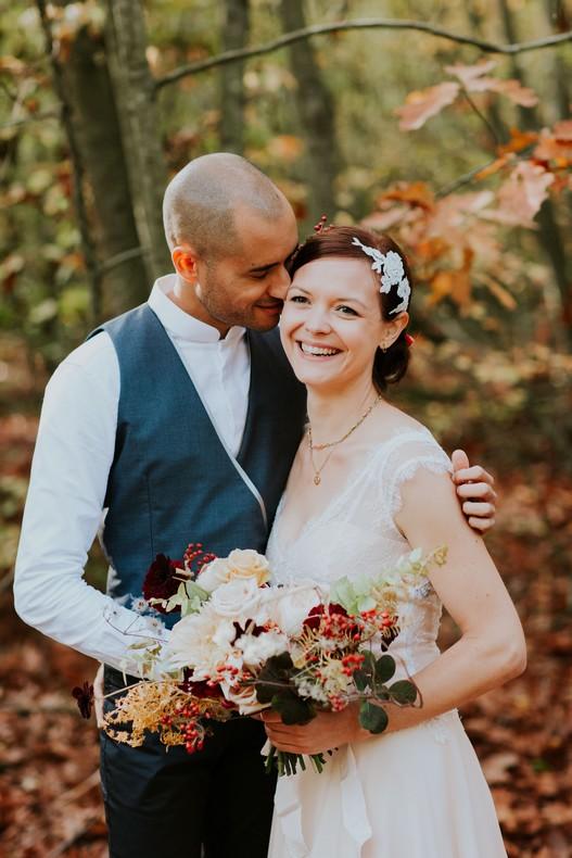 bouquet mariée rose de jardin couleur pastel marsala fleuriste nancy