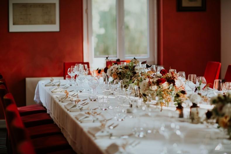 chemin de table fleuri composition florale automne fleuriste strasbourg