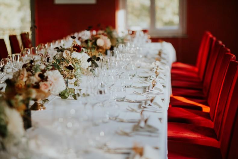 fleur mariage dahlia peche bordeaux eucalyptus strasbourg restaurant etoilé