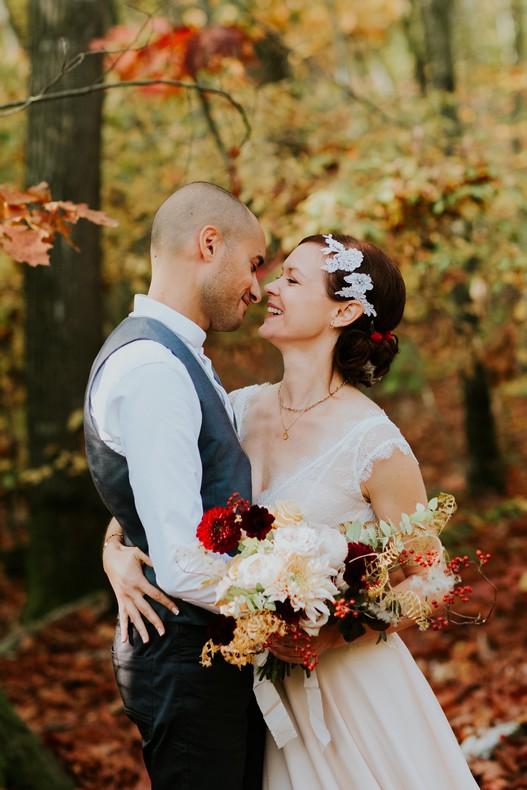 mariage automne bouquet de mariée