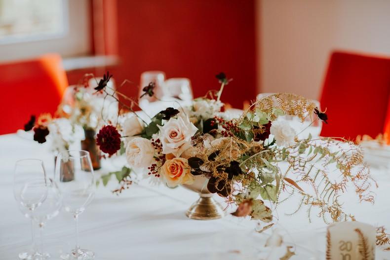 tendance florale mariage rose de jardin capucine atelier floral