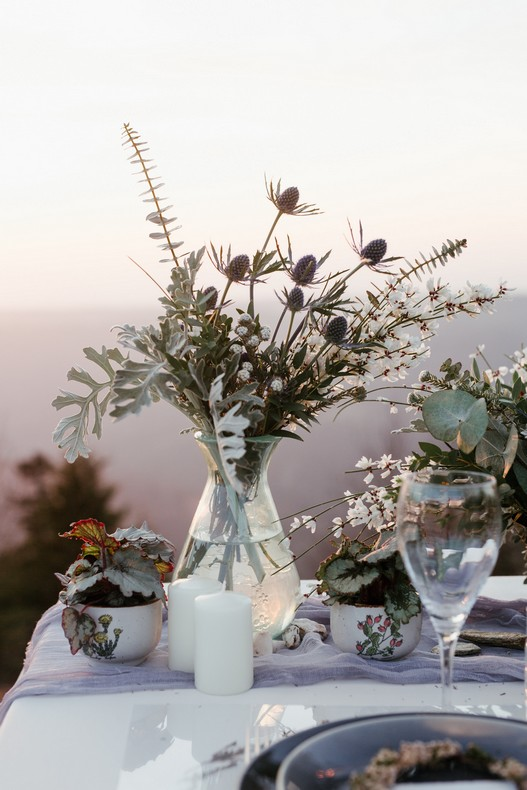 bouquet de mariee hivernal chardon fleuriste grand est