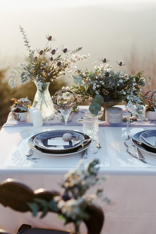 decoration florale mariage alsace tendance hivernal jolie table