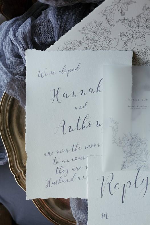 fleuriste calligraphie mariage chardon hiver alsace bleu
