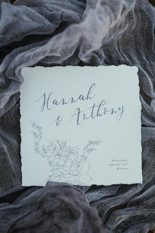 fleuriste calligraphie mariage chardon hiver alsace