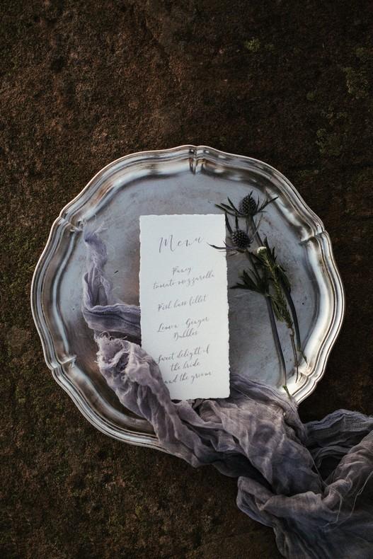calligraphie mariage chardon hiver bas rhin