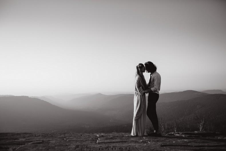elopement hiver mariage alsace couple montagne