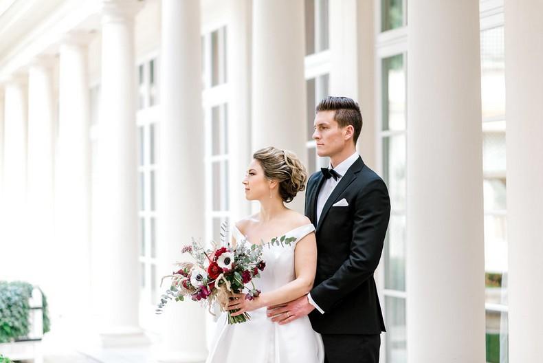 Le Bristol Paris Elopement bride bouquet fineart