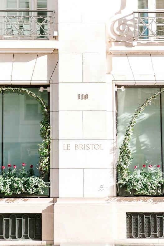 Le Bristol Paris Elopement destination florist capucine atelier floral