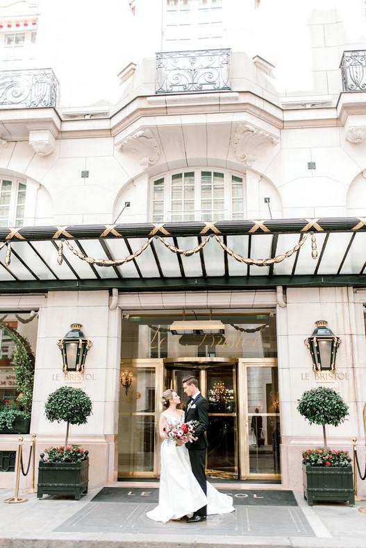 Le Bristol Paris Elopement florist France bride bouquet