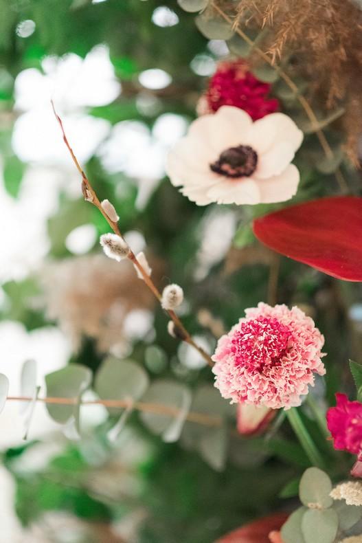 Le Bristol Paris Elopement flowers detail wedding France