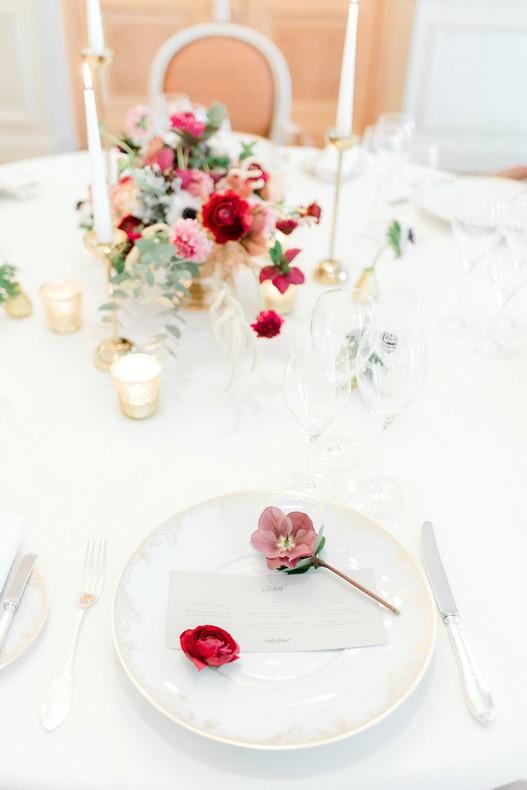 Le Bristol Paris Elopement lovely table fineart florist