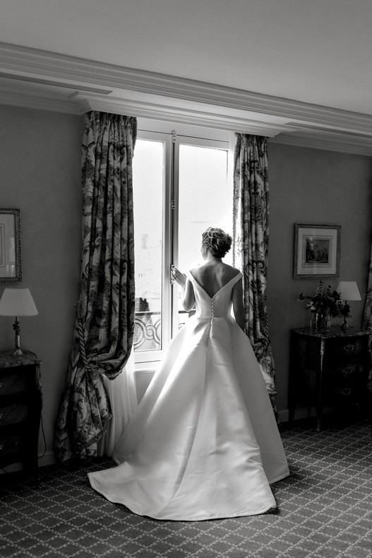 Le Bristol Paris Elopement luxury wedding fineart florist