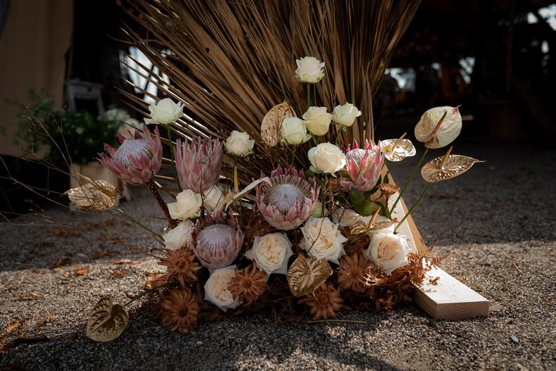fleur exotique protea mariage minimaliste fleuriste luxembourg