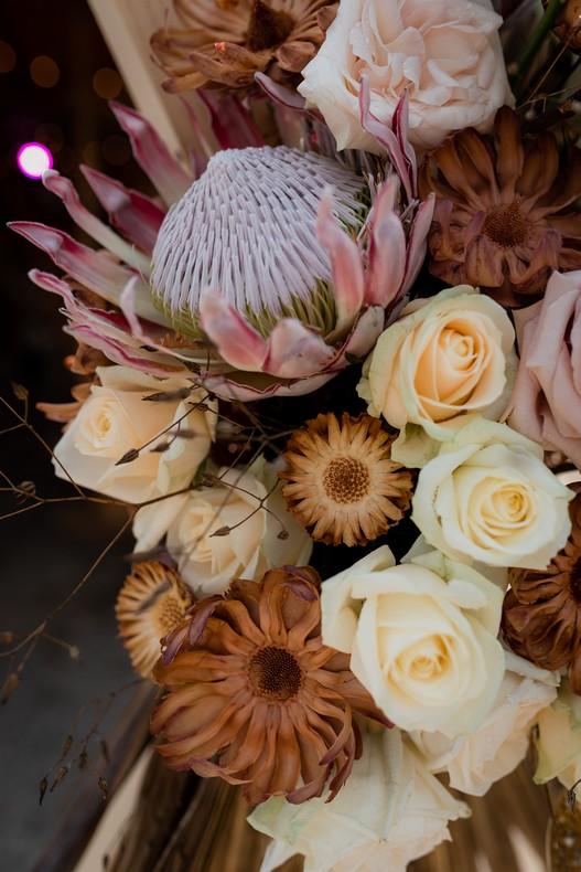 protea fleur exotique mariage urbain capucine atelier floral