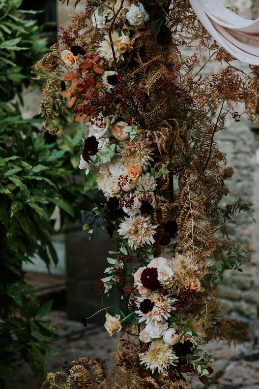 arche florale couleur pastel mariage automne fleuriste strasbourg