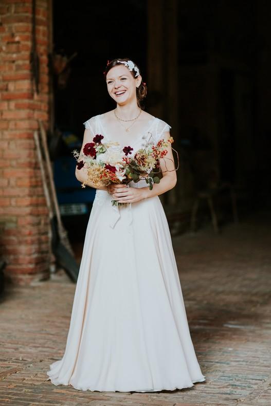beautiful bride bouquet de mariée couleur automne