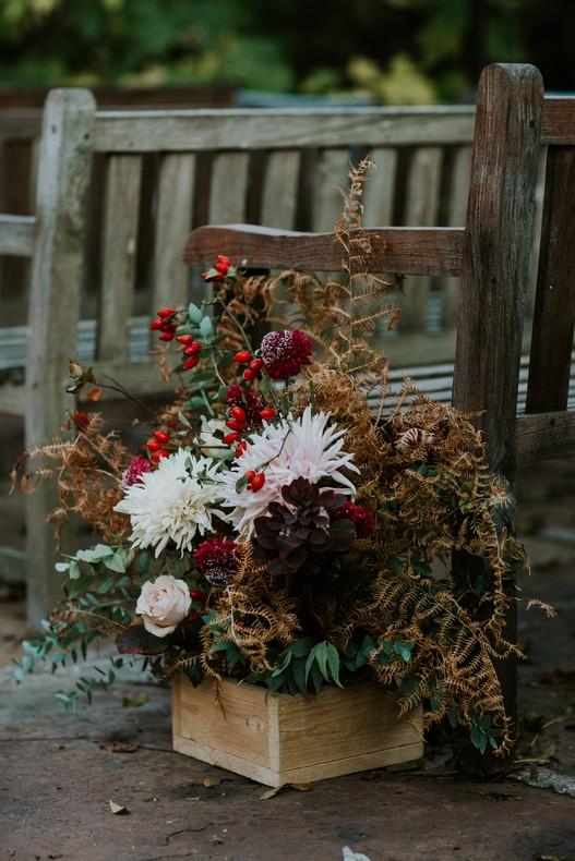 décor cérémonie fleur automne feuillage séché mariage bas rhin