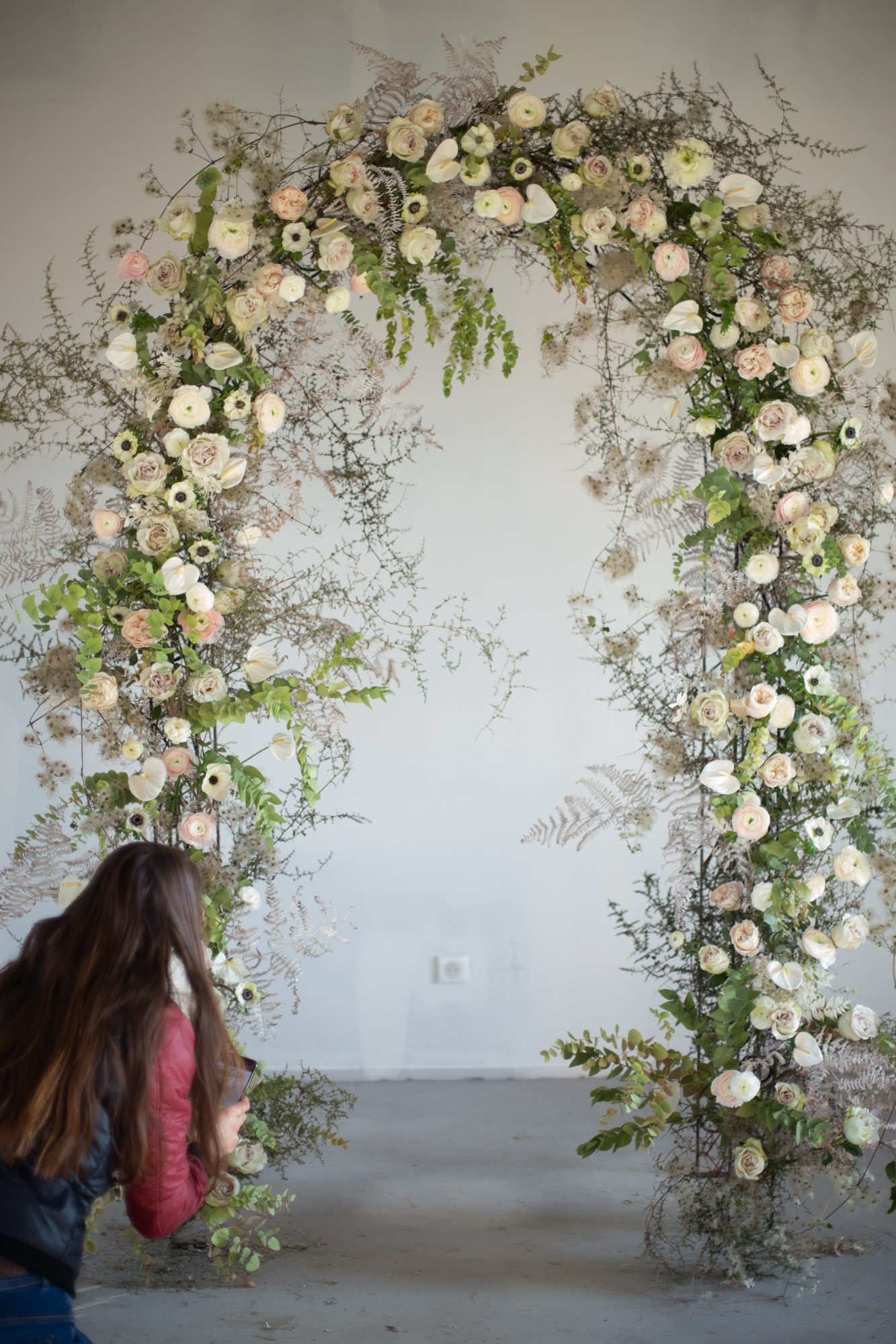 Arche florale - Workshop one to one pour fleuriste