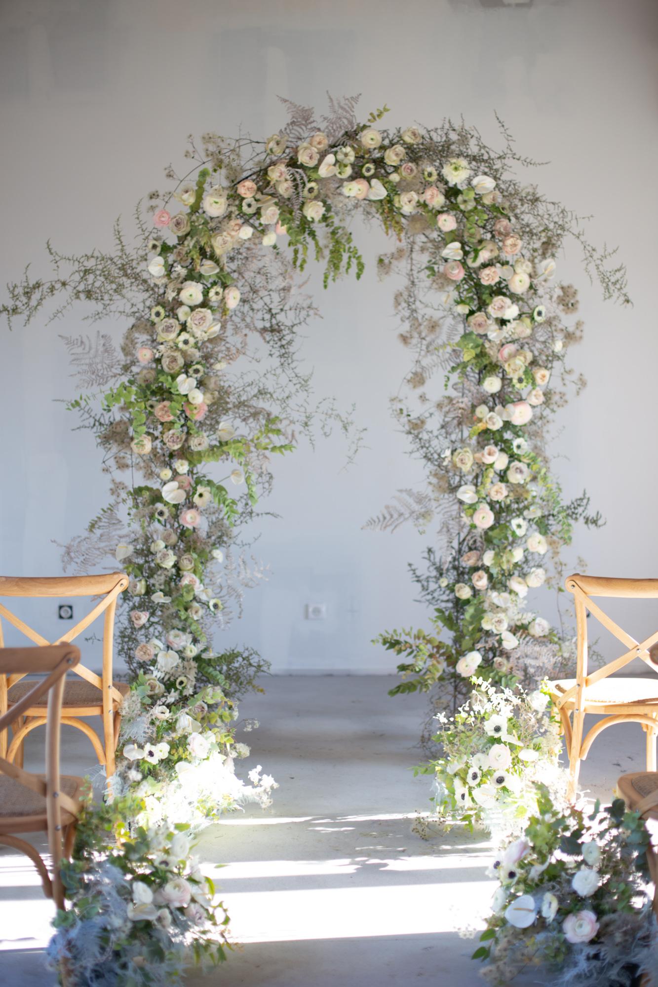 Arche de cérémonie no floral foam -Formation fleuriste