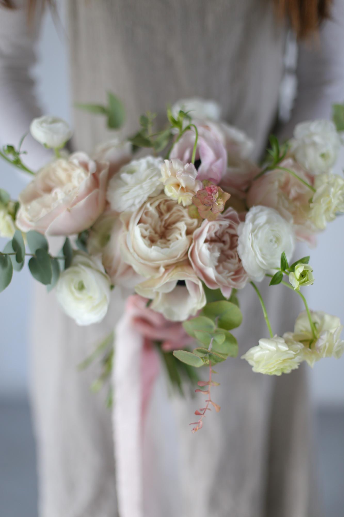 Roses de jardin - Bouquet de mariage