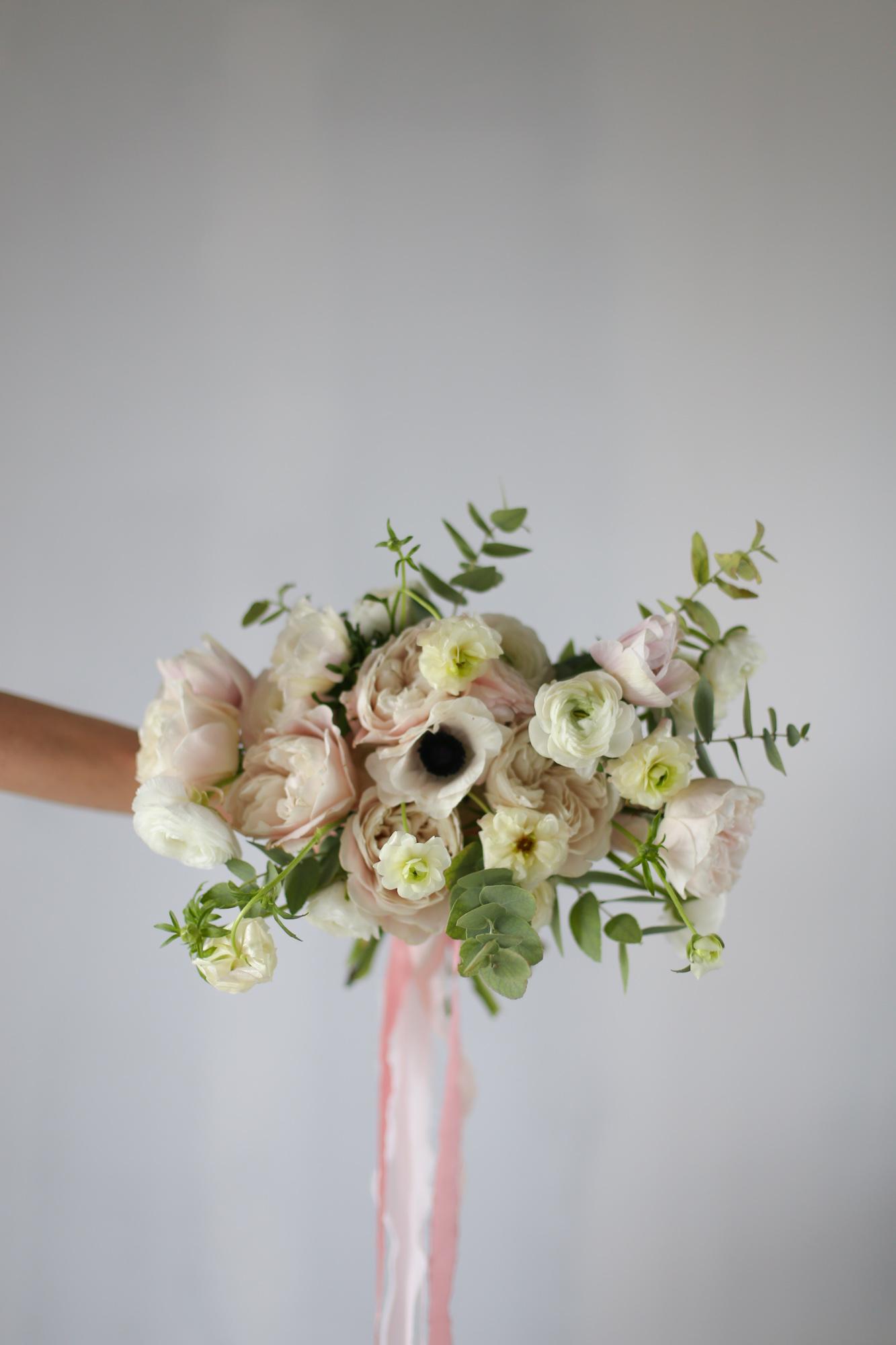 Bouquet de mariée - Fleuriste en formation