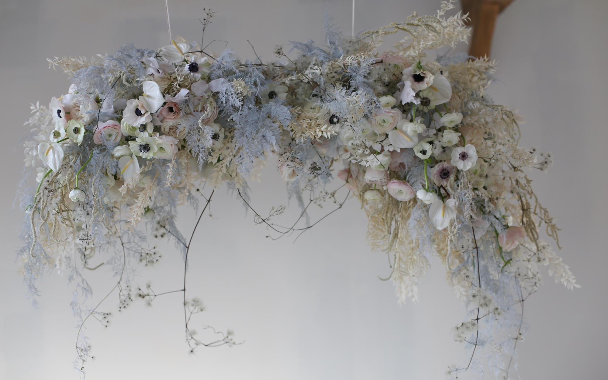 Suspension florale - Workshop mariage pour fleuristes