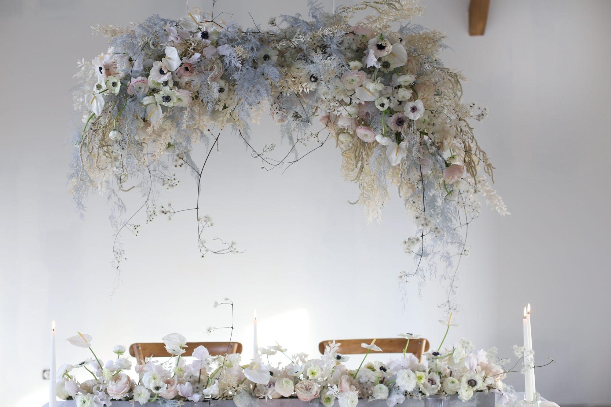 Capucine Atelier Floral - suspension florale tendance mariage 2020