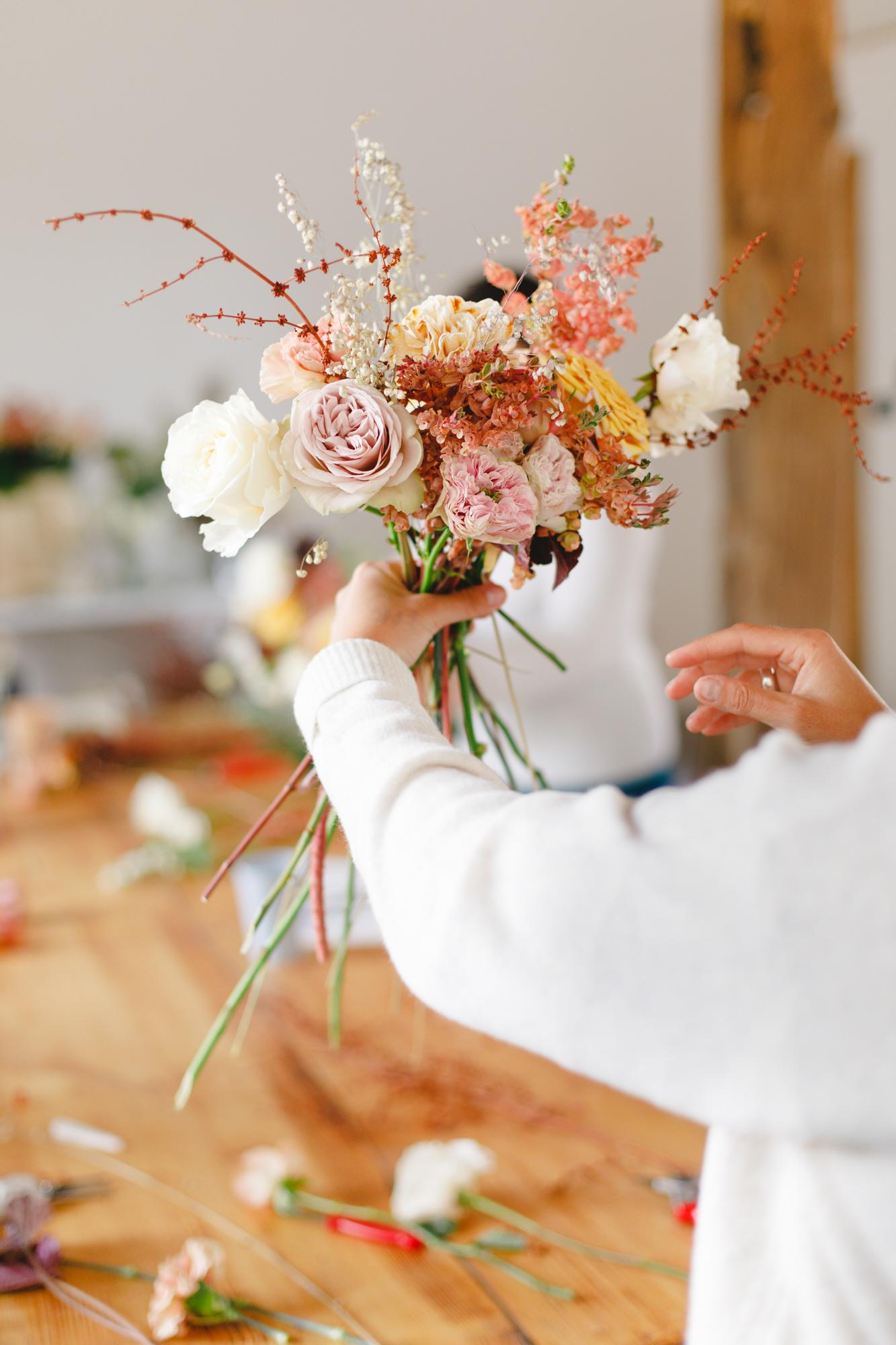 bouquet mariee formation fleuriste fleurs mariage