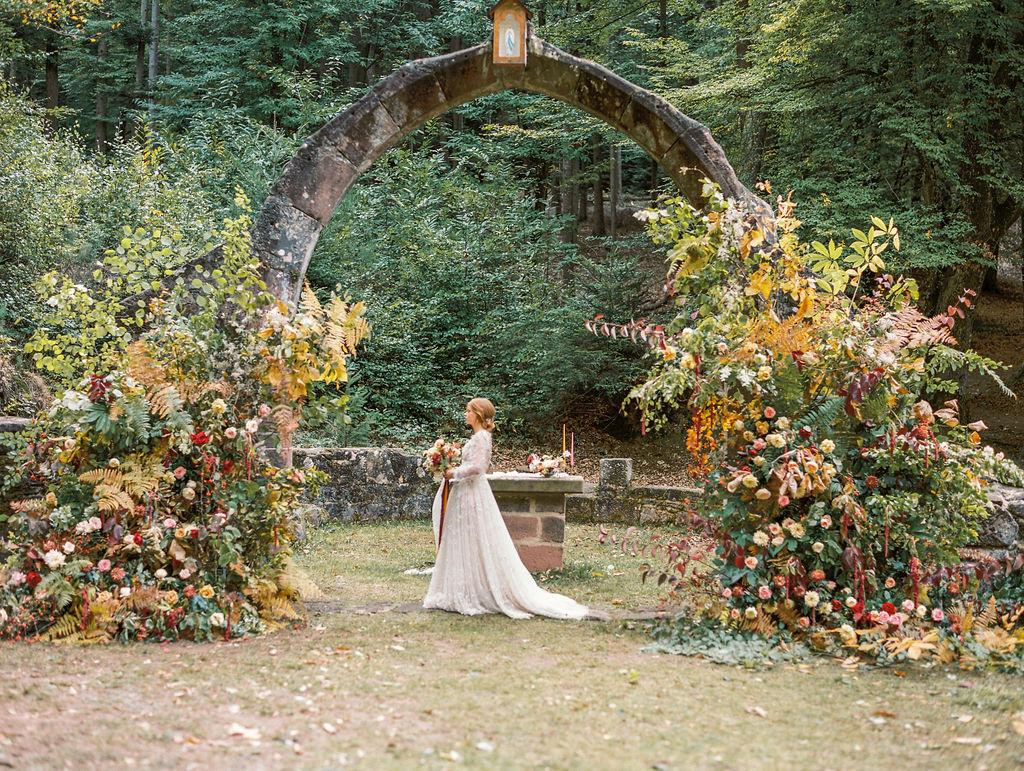 arche cérémonie fineart fleuriste mariage luxe France