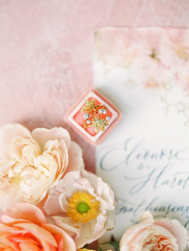 bague mariage luxe capucine atelier floral fleuriste Paris