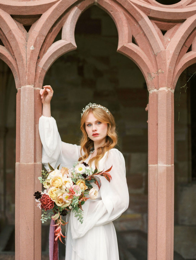 bouquet mariée fineart capucine atelier floral fleuriste haut de gamme Strasbourg